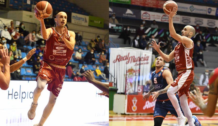 Álex Hernández brilla con el Real Murcia Baloncesto y se lleva el MVP de la jornada