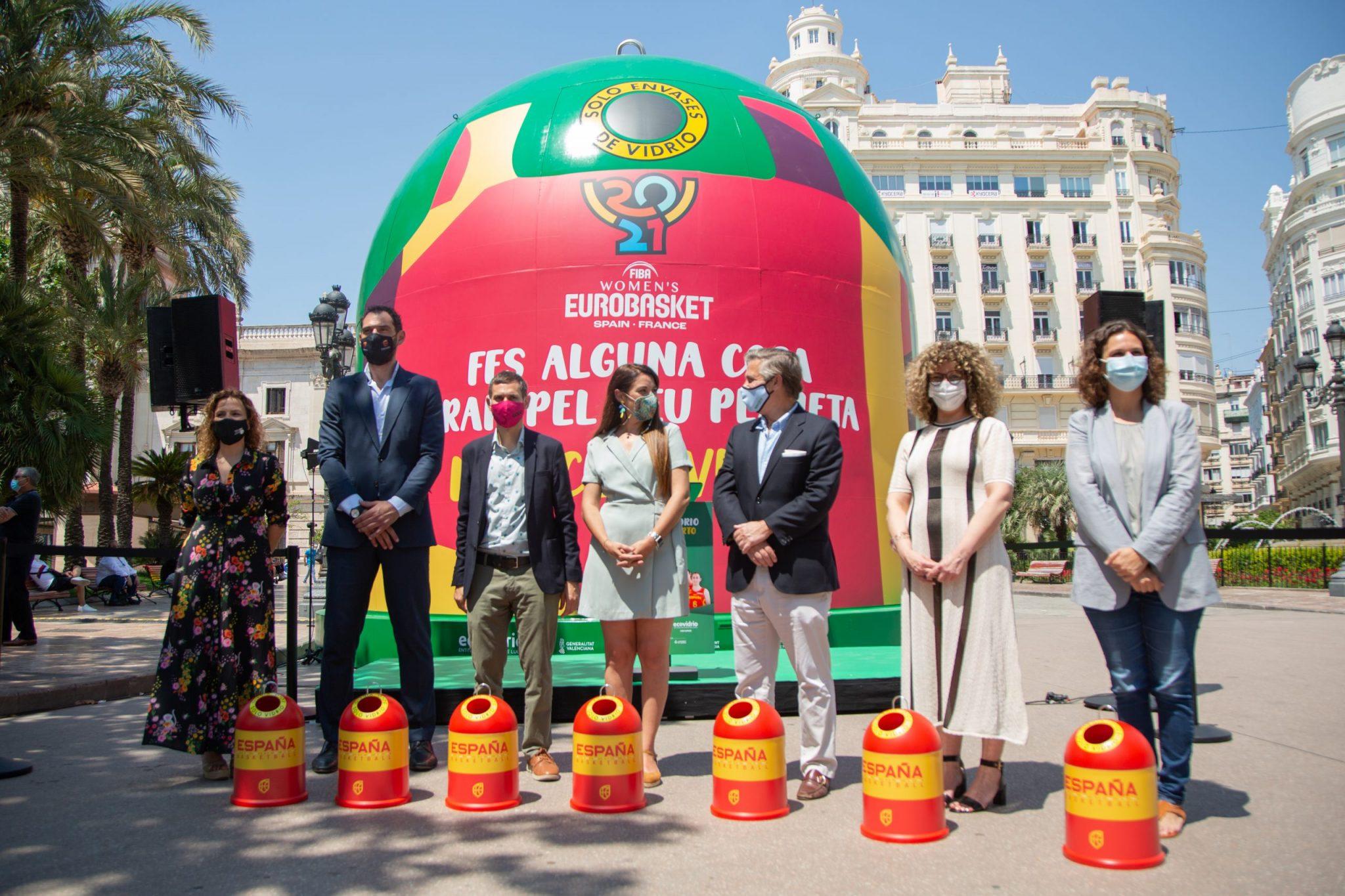 Ecovidrio: un trofeo muy especial para las mejores del Eurobasket