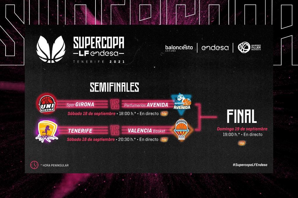Tenerife vs Valencia BC y Spar Girona vs Avenida, semifinales de la #SupercopaLFEndesa