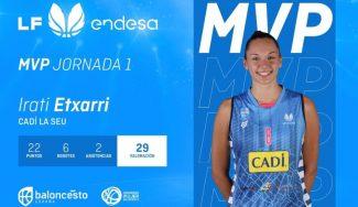 Irati Etxarri, MVP de la J1 en la Liga Femenina Endesa. Este es el quinteto ideal