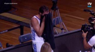 La emoción y las lágrimas de Llull, MVP con su mejor partido desde 2019